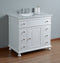 Abigail Embellished 36 Inches White Single Sink Bathroom Vanity