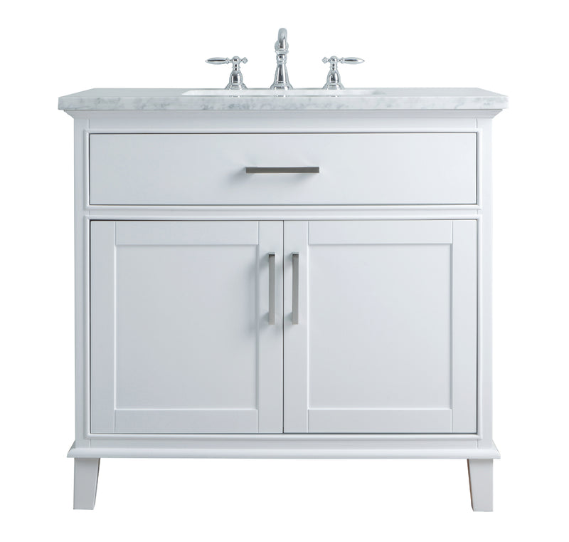 Leigh 36 Inches White Single Sink Bathroom Vanity