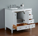 New Yorker 36 Inches White Single Sink Bathroom Vanity