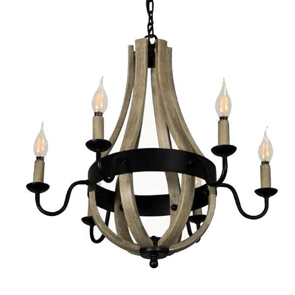 Ano -6 Light Tear Drop Shap Chandelier