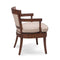 Fraser Oak Finish Upholstery Accent Chair