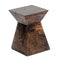 Jaya 12 in. Rustic Brown Wood Square End Table