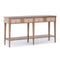 Brooks 60.5 in. Beige Rectangle Wood Console Table