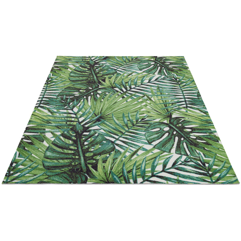 Gyps Palm Tree Print Scatter Area Rug