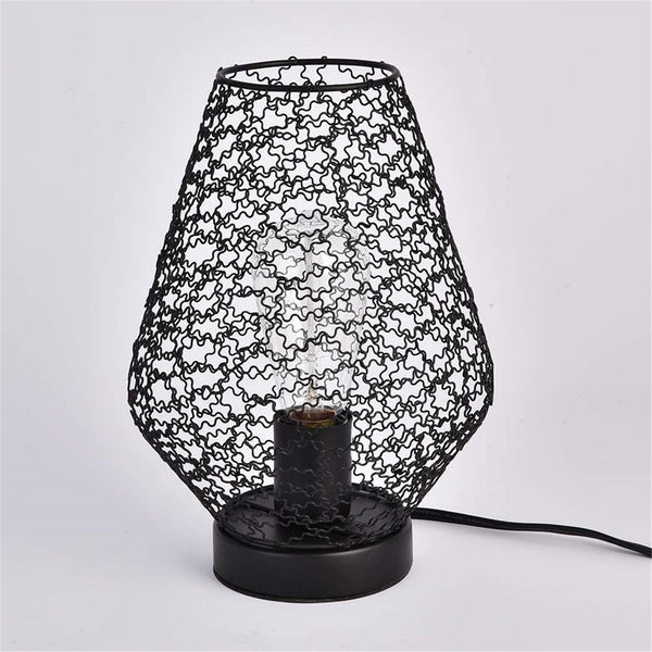 Franny black cage table lamp