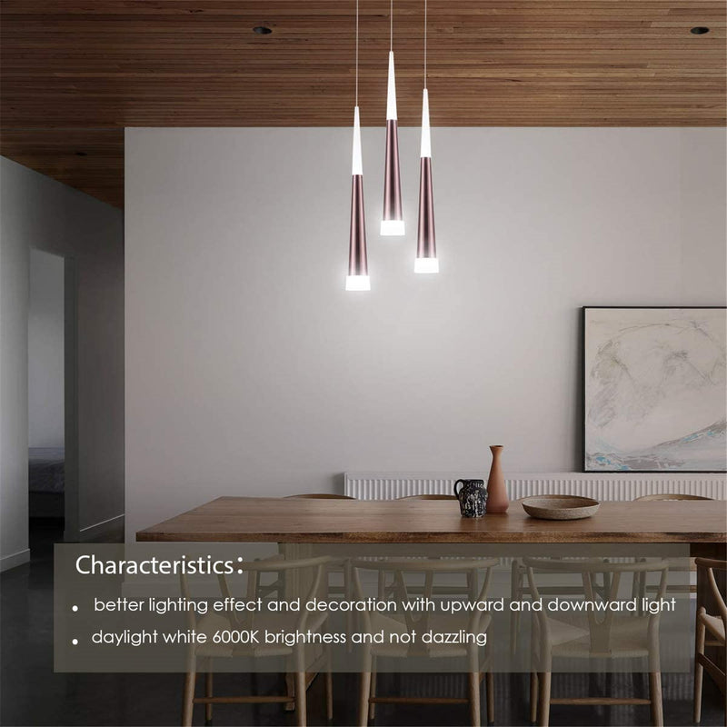 Adalyn modern LED pendant light with acrylic shade