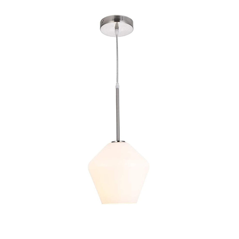 Alison pendant light with white glass shade