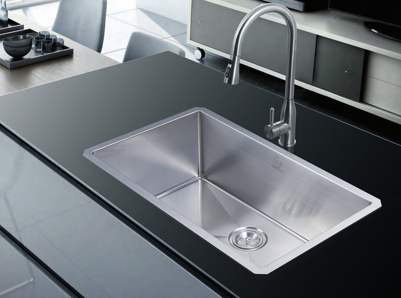 Nationalware Undermount 16 gauge Stainless Steel 30 in. Single Bowl Kitchen Sink