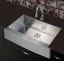 Nationalware Apron/Farmhouse Stainless Steel 36 in. Single Bowl Kitchen Sink