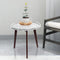"Cassara 19"" White Marble Table"