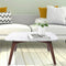 "Vezzana 31"" Square Italian Carrara White Marble Coffee Table with Legs"