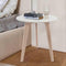 "Cherie 15"" Round Italian Carrara White Marble Side Table with Legs"