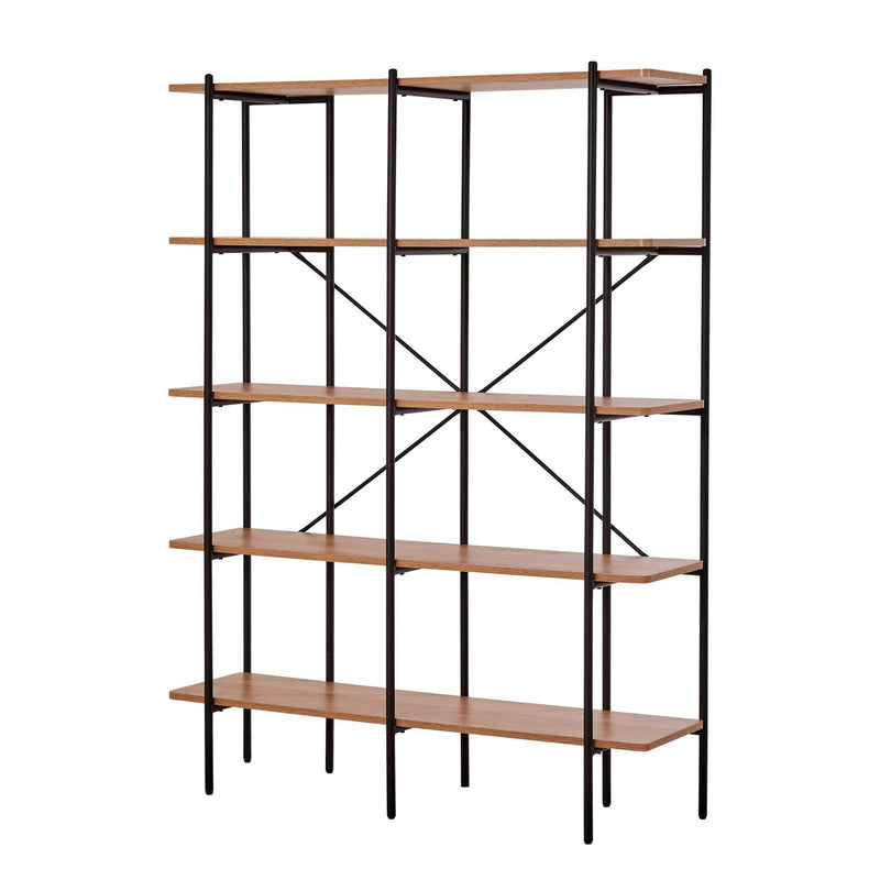 Querencia 5-Tier Bookshelf with Metal Frame