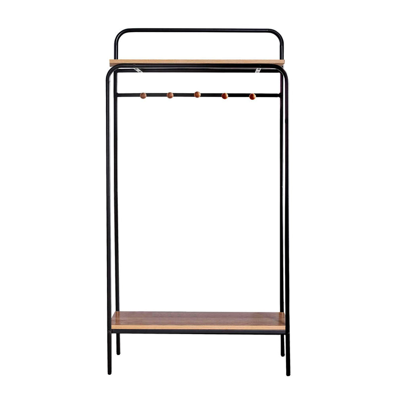 "Querencia 63""H Metal Frame Hall Tree Entryway Coat Rack Hanger with Storage Shelf and 5 Hooks"