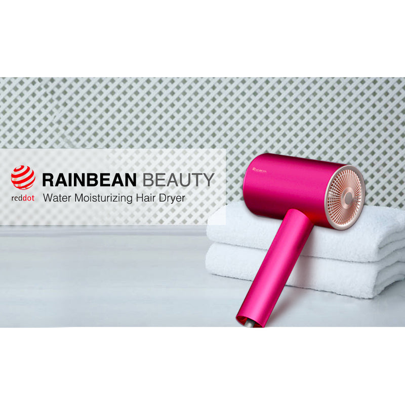 Rainbean 1800w Hair Dryer Professional Patented Water Ion Blow Dryer for Fast Drying with Powerful AC Motor Magnetic Attachment