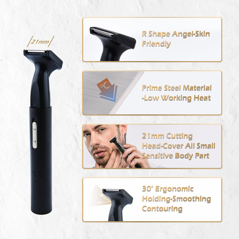 Rainbean Ear and Nose Hair Trimmer with Stainless Steel Blade and IPX7 Waterproof System