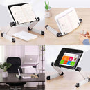 Rainbean Aluminum Adjustable and Foldable Portable Desk Book Holder in Black