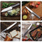 Cookit 15-Piece Stainless Steel Hollow Handle Kitchen Chef Knives Set with Wooden Block Holder and Manual Sharpener