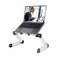 Rainbean Aluminum Adjustable and Foldable Portable Laptop Stand in Black