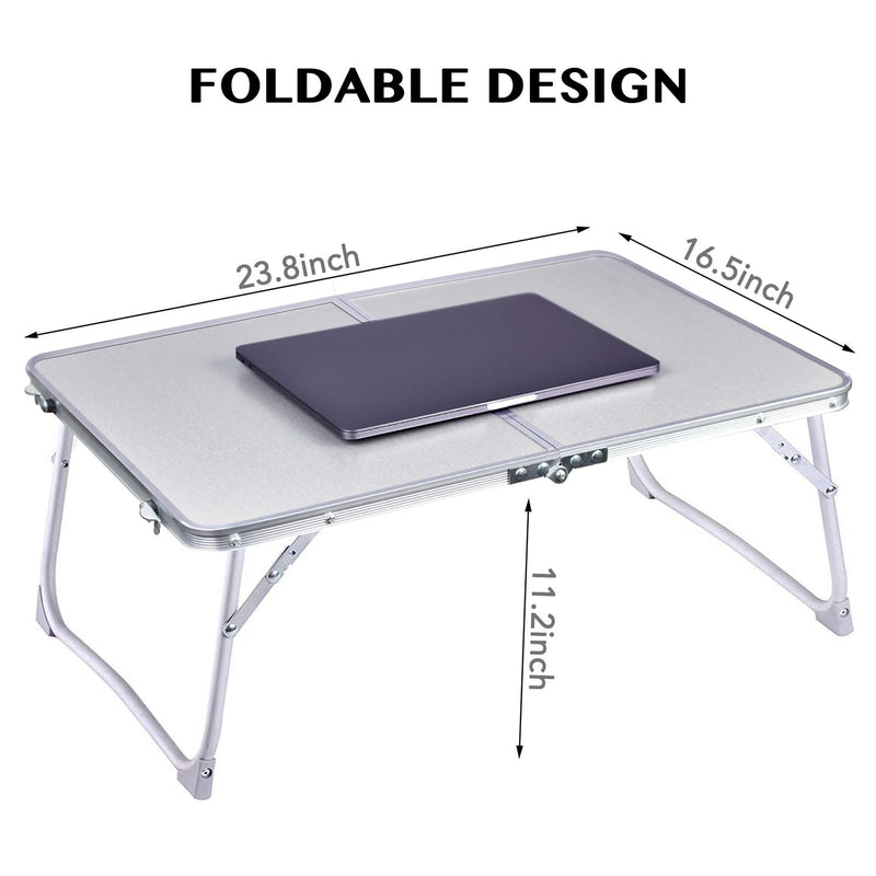 Rainbean Foldable and Portable Mini Desk Tray
