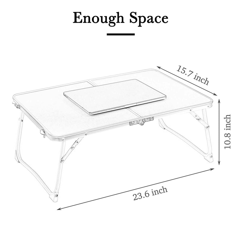 Rainbean Black Foldable and Portable Mini Desk Tray