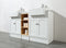Zevan 59 Inch White Double Sink Bathroom Vanity