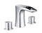 Cascade Bathroom Sink Faucet Set in Chrome