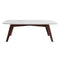 "Faura 18"" x 43.5"" Rectangular Italian Carrara White Marble Coffee Table with Legs"