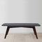 "Faura 18"" x 43.5"" Rectangular Italian Black Marble Coffee Table with Walnut Legs"