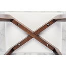 "Gavia 19.5"" Marble Table-Walnut"