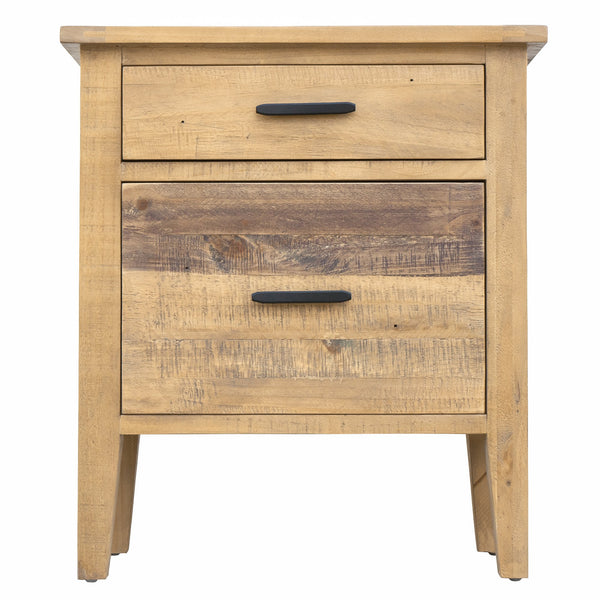 "Ashford 25"" Reclaimed Wood Filing Cabinet with Two Drawers"