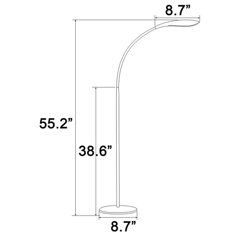 "Haven 58.3""  LED FLOOR LAMP-black"