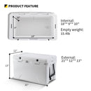 EchoSmile 30 Quart White Rotomolded Cooler