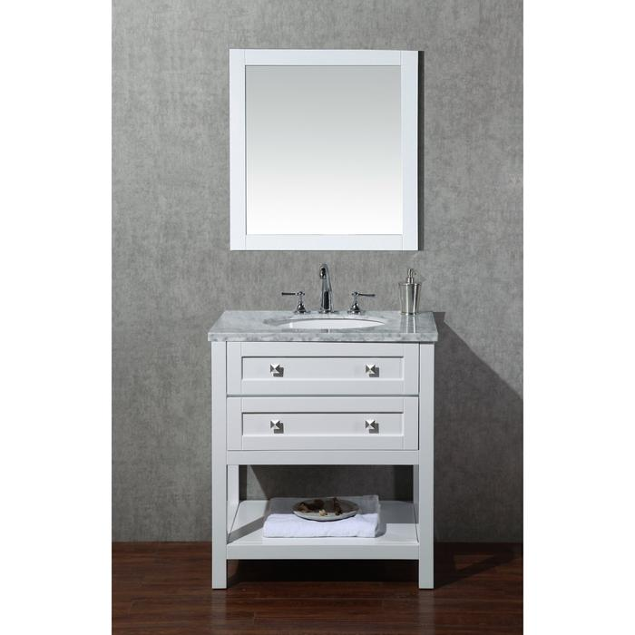 Marla 30 inch Single Sink Bathroom Vanity with Mirror