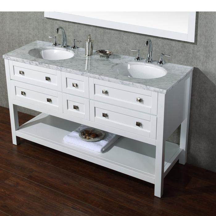 Marla 60 inch Double Sink Bathroom Vanity with Mirror