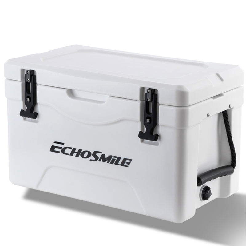 EchoSmile 40 Quart White Rotomolded Cooler