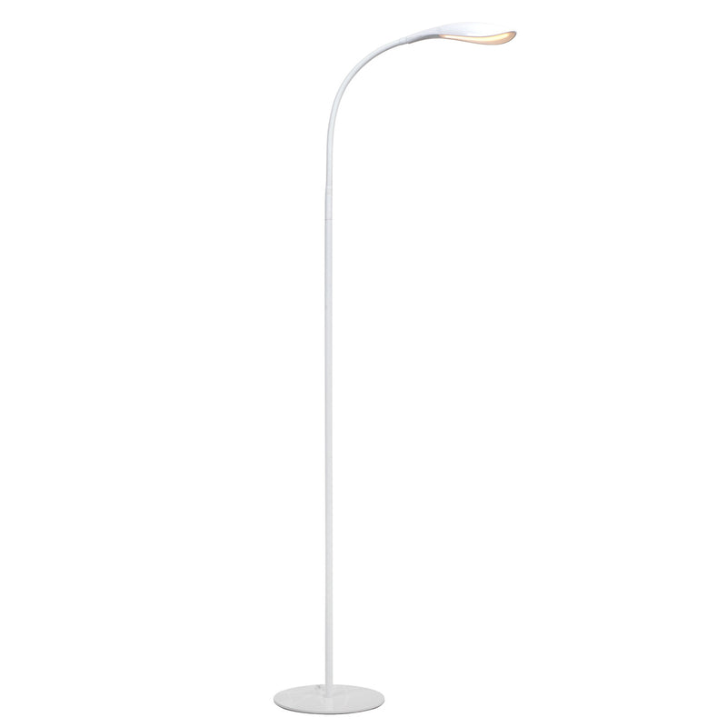 "Rylie 15.8"" LED  DESK LAMP in Black and Haven 58.3""  LED FLOOR LAMP in White"