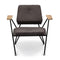 Margot Mordern Accent Chair with Metal Legs and Solid Wood Armrests for Living Room and Bedroom (Upholstered Seat)