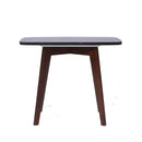 "Cima 12"" x 21"" Rectangular Italian Black Marble Side Table with Walnut Legs"