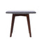 "Cima 12"" Black Marble Table-Walnut"