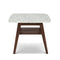 "Cassoro 24"" Square Italian Carrara White Marble Side Table with Shelf"
