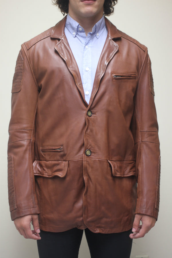 Antique Washed Lamb Motorcycle Blazer