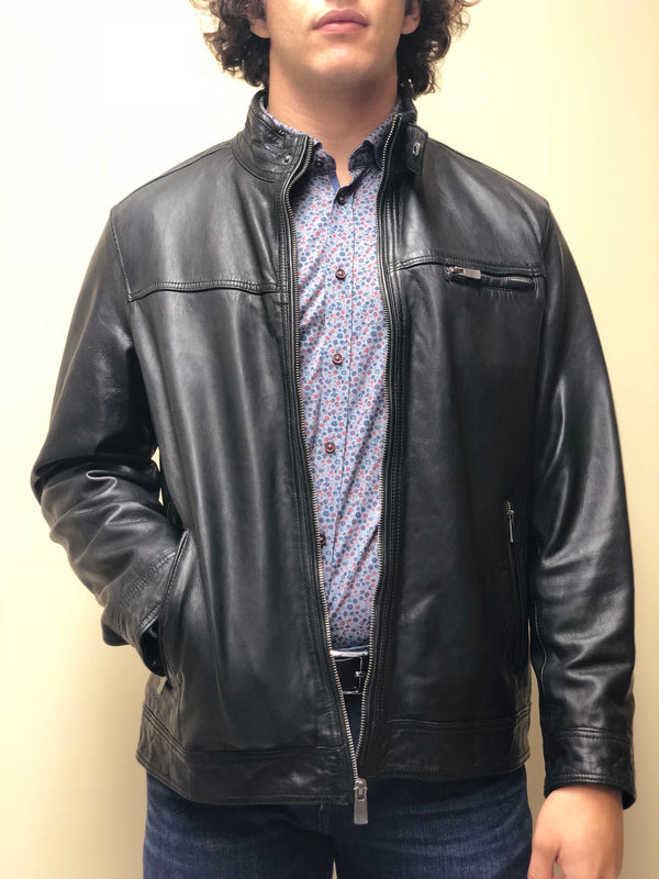 Black Antique Washed Lambskin Jacket