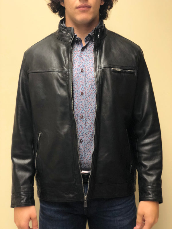 Antique Naked Lambskin Bomber Jacket