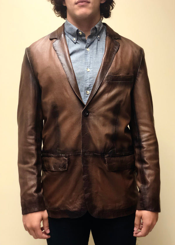 Antique Washed Lambskin Blazer