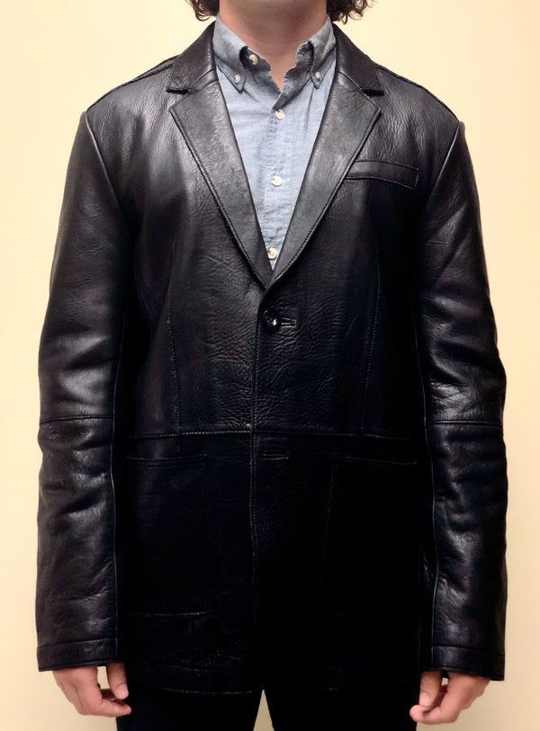 Antique Naked Lambskin Blazer Style Jacket