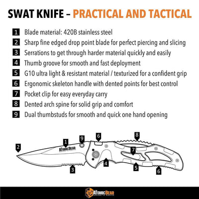 SWAT Knife - Your EDC Pocket Knife Folder