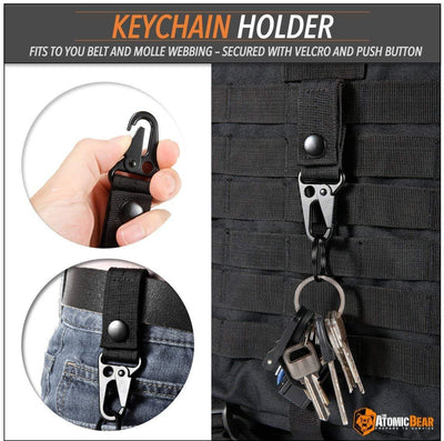 Molle Attachments : Straps, D-Ring Carabiner, Key Ring Holder, Securing Bands