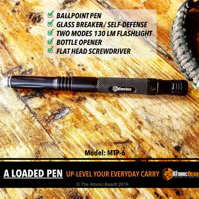 The MTP6: Multi-Tool Tactical Pen with Flashlight