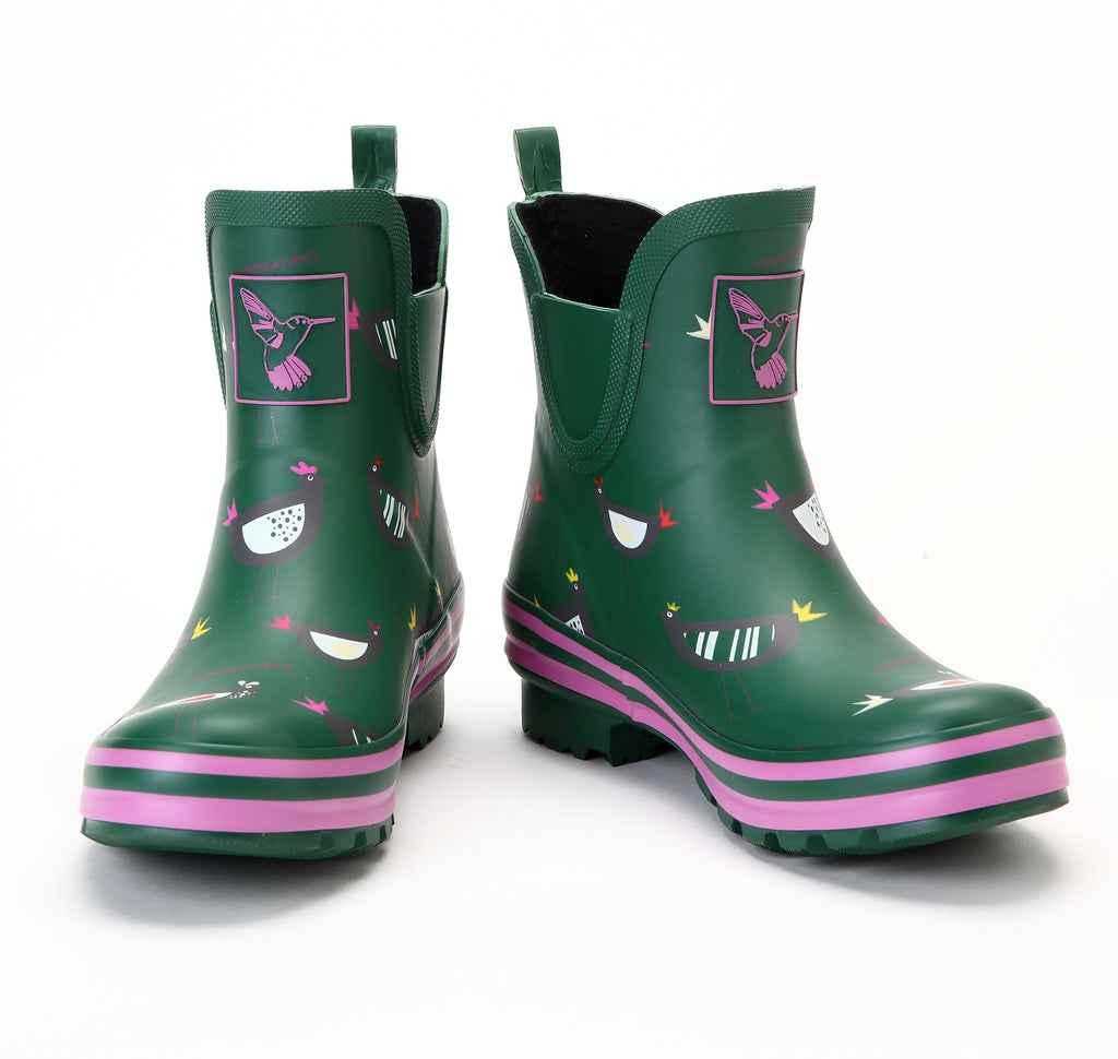 Evercreatures Chicken Meadow Ankle Wellies